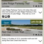 Trail Selection Page